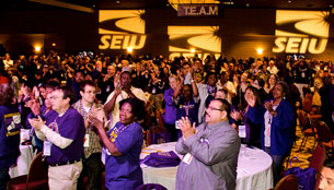 SEIU members at the Member Leadership in Action conference in Los Angeles in 2011