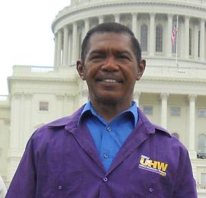 SEIU-UHW member Larry Burrus, a Fresno County homecare provider
